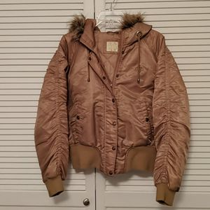 South Pole winter bomber jacket w/faux fur hood